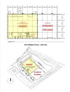 2511 Midpark Drive Available Space Floor Plan